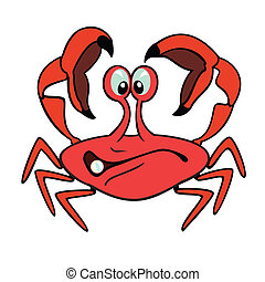cartoon carb - cartoon crab for little kids, isolated image...