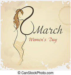 Happy Women's Day, March 8. Vector Illustration. Eps 10.