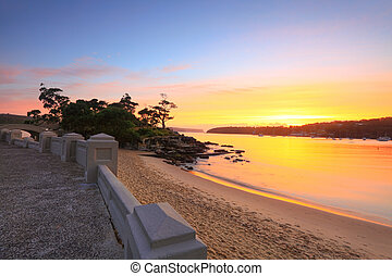 Sunrise Balmoral Beach seaside suburb Sydney Australia