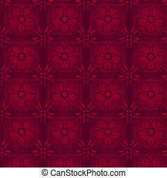 Floral red wallpaper. Seamless