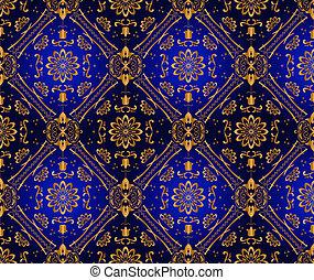 Retro blue wallpaper Seamless Vector illustration