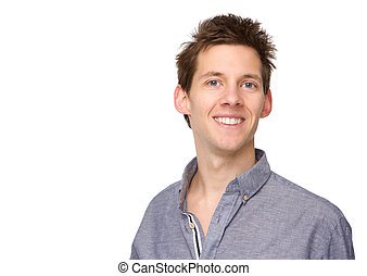 Portrait of a young adult male smiling