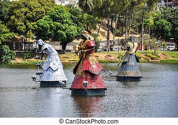 Dique de Tororo, Salvador de Bahia (Brazil) - Orixa statues...