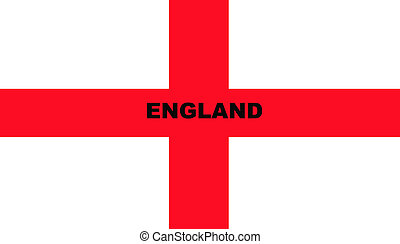 Flag of Saint George - Illustration of Saint George\'s cross...