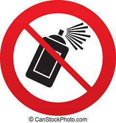 No Graffiti spray can sign icon Aerosol paint - No Graffiti...
