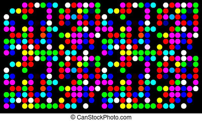 Colorfull dots with random colors