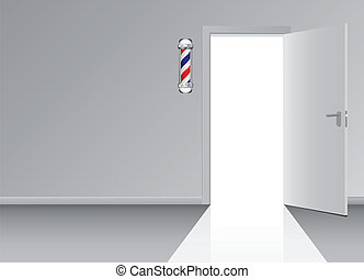 Office hall barbershop barber shop symbol Vector...