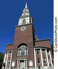 Park Street Church - Classic New England architecture, the...