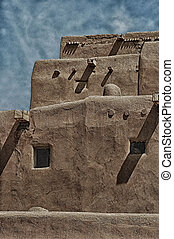 Taos - Wonderful texture, wood and adobe - the historic...