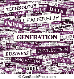 GENERATION Word cloud concept illustration Wordcloud collage...