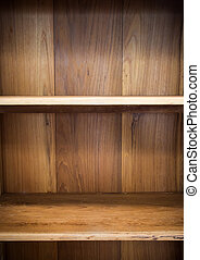 Wood shelf with two divider