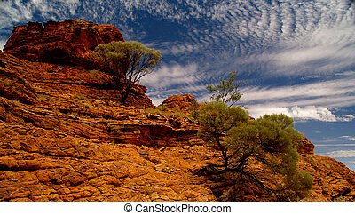 Kings Canyon II - Australian Kings Canyon with typical red...