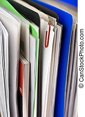 Papers - Stack of papers, documents and file folders