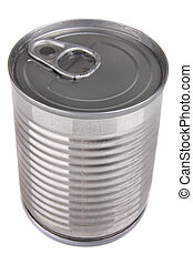 Can - Aluminium tin can isolated on white background