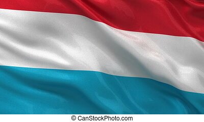 Flag of Luxembourg - seamless loop