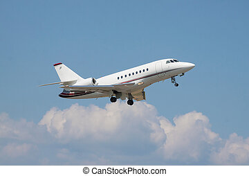 Business jet - Small business jet takeoff