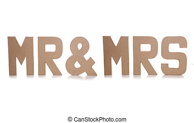 mr & mrs decoupage letters cutout