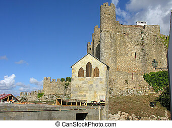 Obidos castle, menage tower