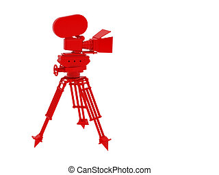 red camera - High resolution image camera 3d illustration...