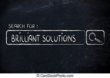 search engine bar, seeking brilliant solutions - seeking...