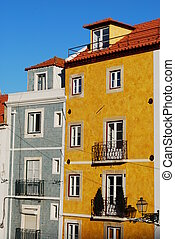 Ancient building facade - antique and classic residential...