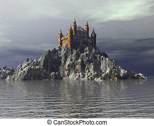 Castle - Digital Illustration of a Castle