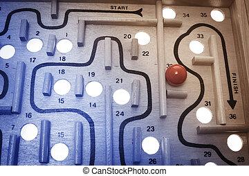 Maze Game - Close Up of Maze Game
