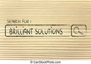 search engine bar, seeking brilliant solutions - seeking...