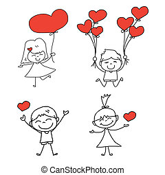 cartoon hand-drawn love character
