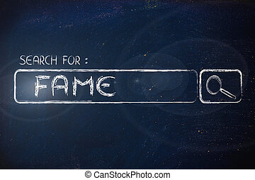 search engine bar, seeking fame - seeking fame, design of...