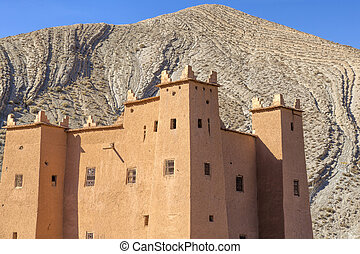 Ancient casbah building, Morocco