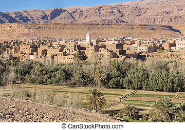 Landscape in Morocco, North Africa
