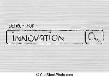 search engine bar, seeking innovation - seeking innovation,...