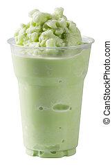 Milk cream soda flavored smoothie - Close up milk cream soda...