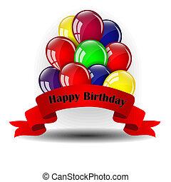 palloni, compleanno, disegno