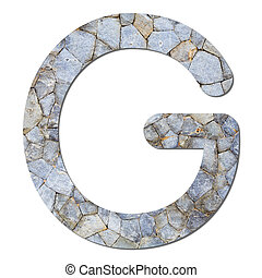 Font stone wall texture alphabet G - Font from old and...
