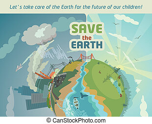 Save the Earth for the future of our children - Let's take...