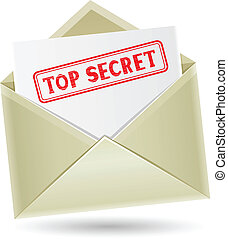 top secret envelope - The secret correspondence, opened...