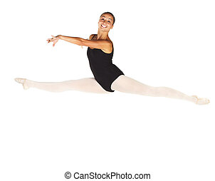 Young Ballet Dancer - Young female ballet dancer showing...
