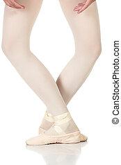 balé, pés, posições