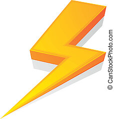 Lightning Bolt - detailed illustration of a glossy lightning...