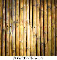 Vignette style Bamboo stick background - Close up yellow...