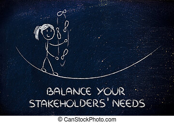 balancing and managing stakeholders' needs: funny girl...