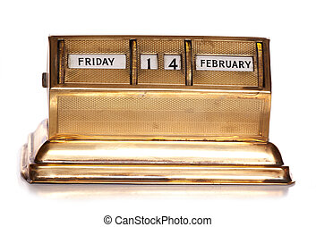 Friday 14th February perpetual calendar cutout