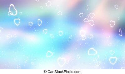 Aqua Love Hearts Loop - Aqua Love Hearts looping animated...