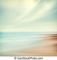 Sea and Sky Abstract - A seascape abstract with panning...