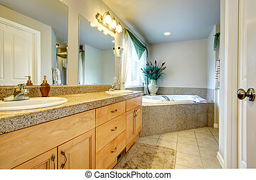 Beautiful bathroom with whirpool - Bright beautiful bathroom...