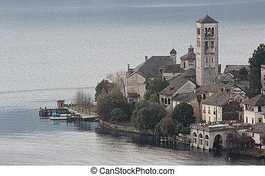 Isle of Orta San Giulio, Orta lake, Italy