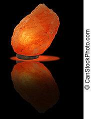 Lamp of Himalayan salt