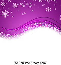 Fantastic Christmas wave design with snowflakes and space...